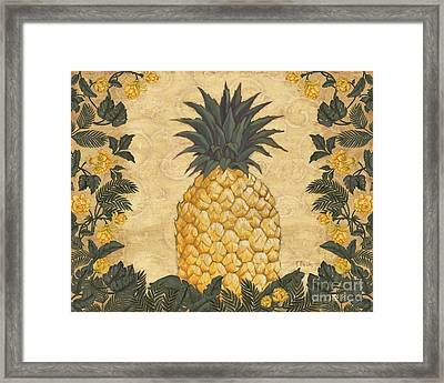 Pineapple Floral Framed Print by Paul Brent