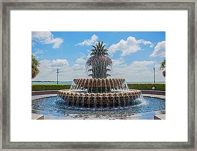Framed Print featuring the photograph Pineapple Fountain by Sennie Pierson