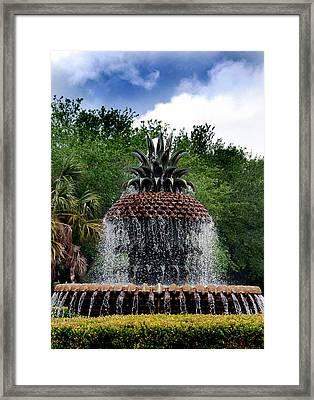 Pineapple Fountain Framed Print