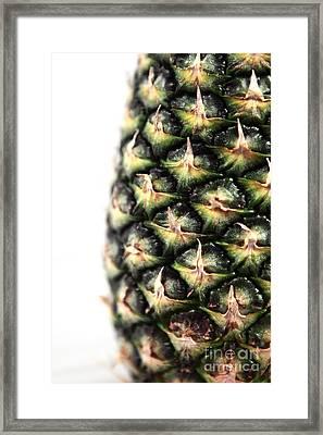 Pineapple Half Framed Print by John Rizzuto