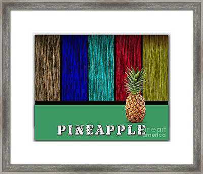 Pineapple Framed Print by Marvin Blaine