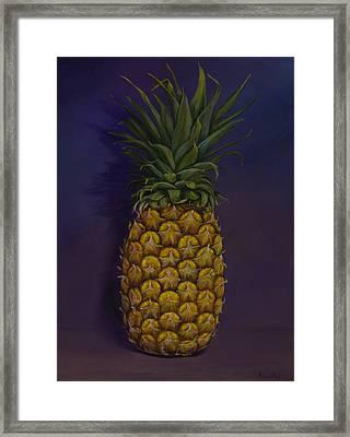 Pineapple Merlot Framed Print