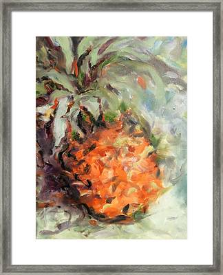 Pineapple Orange Framed Print