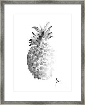 Pineapple Painting Watercolor Art Print Framed Print
