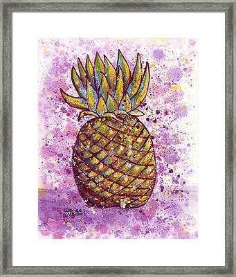 Pineapple Party Framed Print