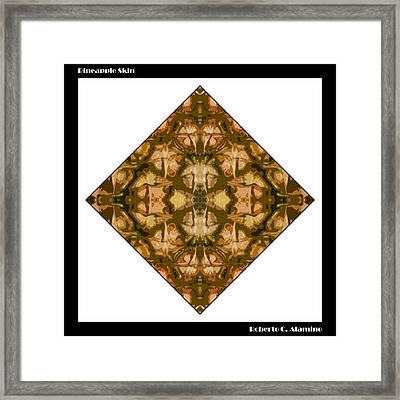 Pineapple Skin Framed Print by Roberto Alamino