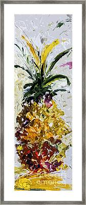 Pineapple Triptych Part 2 Framed Print