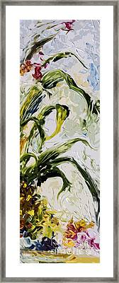 Pineapple Triptych Part 3 Framed Print by Ginette Callaway