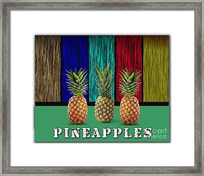 Pineapples Framed Print by Marvin Blaine