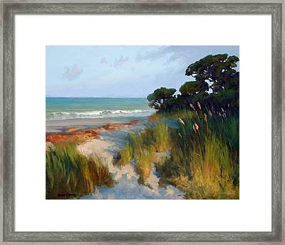 Pines And Sea Oats Framed Print
