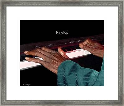 Pinetop's Hands Framed Print by EG Kight