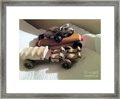 Pinewood Derby Art Framed Print