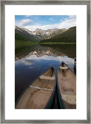 Piney Lake Framed Print