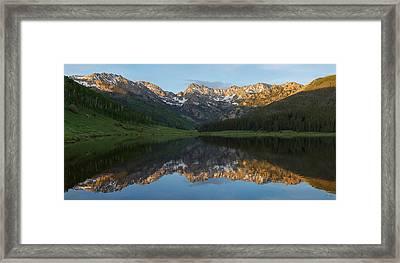 Piney Lake Sunset Panorama Framed Print
