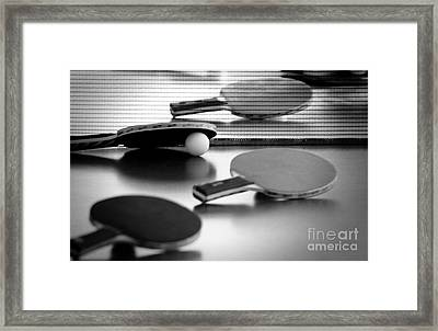 Framed Print featuring the pyrography Ping-pong by Evgeniy Lankin