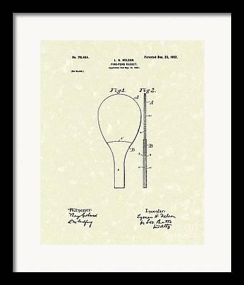 Table Tennis Racket Framed Prints