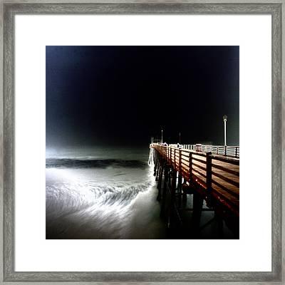 Pinhole Oceanside Pier Framed Print by Hugh Smith