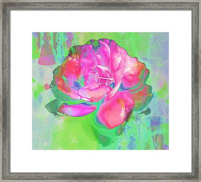 Pink Abstract Framed Print by Cathie Tyler