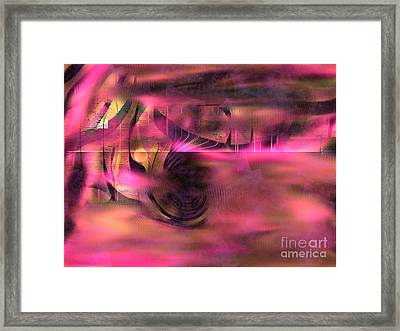 Pink Abstract Nature Framed Print by Yul Olaivar