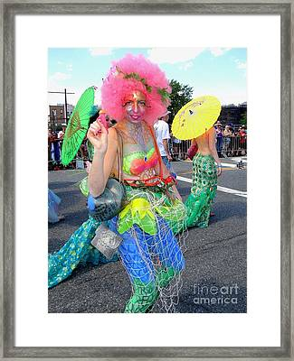 Framed Print featuring the photograph Pink Afro by Ed Weidman