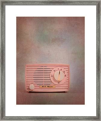 Pink Am Radio Framed Print by David and Carol Kelly