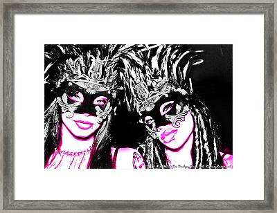 Pink And Black  Framed Print by Ley Clarie Gray