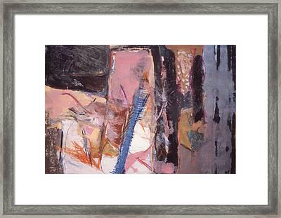 Pink And Black Framed Print
