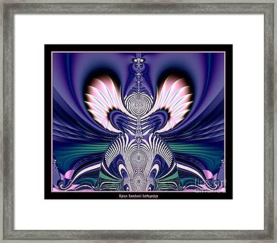 Pink And Blue Guardian Angel Fractal 99 Framed Print by Rose Santuci-Sofranko