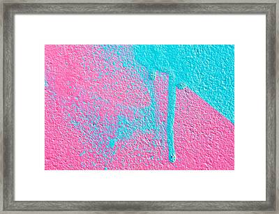Pink And Blue Paint Framed Print by Tom Gowanlock