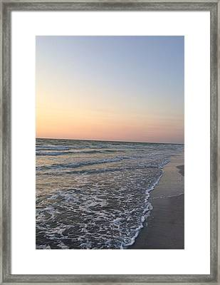 Pink And Blue Shore Framed Print