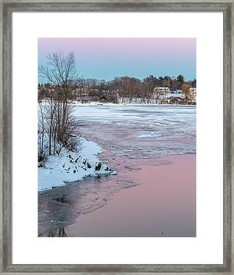 Pink And Blue Sky Tonight Framed Print by Stroudwater Falls Photography