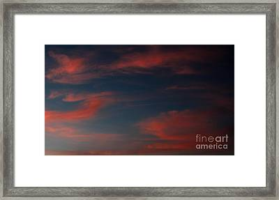 Pink And Blue Skys Framed Print by Amanda Collins