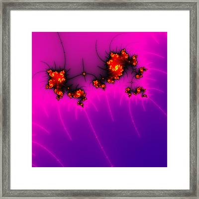 Pink And Purple Digital Fractal Artwork Framed Print by Matthias Hauser