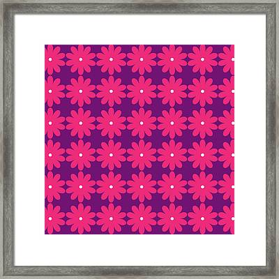 Pink And Purple Flowers Framed Print by Linda Woods