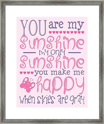 Pink And Purple Sunshine Framed Print by Sarah St Pierre