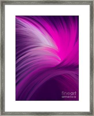 Pink And Purple Swirls Framed Print