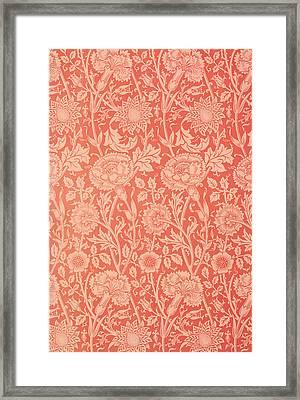 Pink And Rose Wallpaper Design Framed Print by William Morris