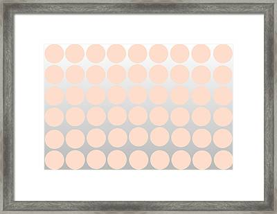 Pink And Silver Ombre Polka Dots Framed Print by Chastity Hoff