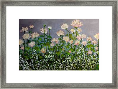 Framed Print featuring the painting Pink And White Flowers by Irena Mohr