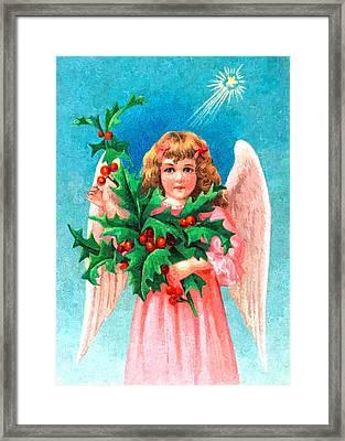 Pink Angel Framed Print by Munir Alawi