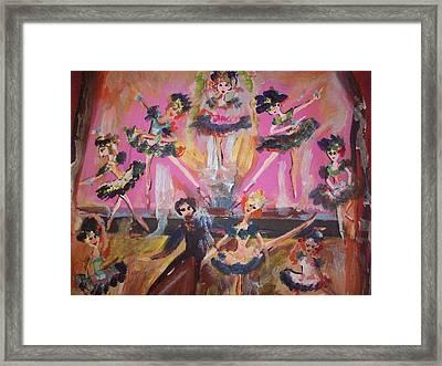 Pink Apple Waltz Framed Print by Judith Desrosiers