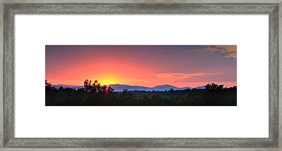 Pink Arc Above The Blue Ridge Framed Print
