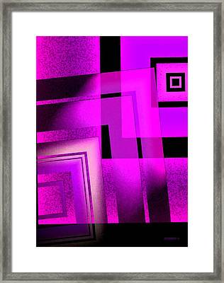 Pink Art Design In Digital Art Framed Print by Mario Perez