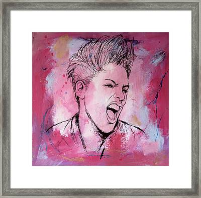 Pink Art Painting Poster Framed Print