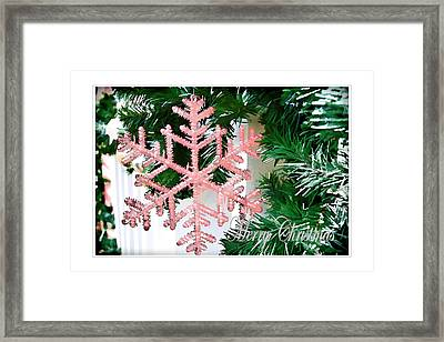 Pink Framed Print by Audreen Gieger
