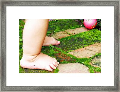 Pink Ball Framed Print