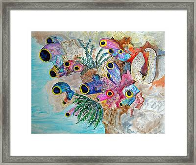Pink Beach Sea Squirts Framed Print