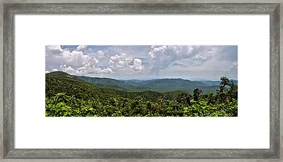 Framed Print featuring the photograph Pink Bed On Blue Ridge Parkway by Allen Carroll