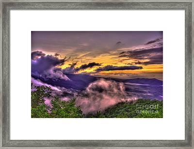 The Blue Ridge Parkway Pink Beds Overlook 2 Framed Print by Reid Callaway