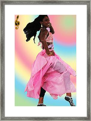 Pink Belly Dancer Framed Print
